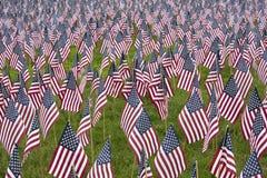 Drapeaux commémoratifs nombreux des USA photo libre de droits