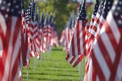 Drapeaux curatifs de 9/11 champ Photographie stock libre de droits