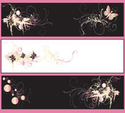 Drapeaux décoratifs illustration de vecteur