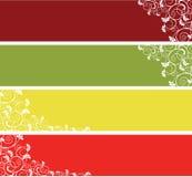 Drapeaux détaillés de site Web illustration stock