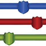 Drapeaux d'écran protecteur illustration de vecteur
