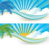 Drapeaux d'été Photographie stock libre de droits