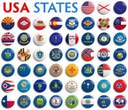 Drapeaux d'états des Etats-Unis Photo libre de droits
