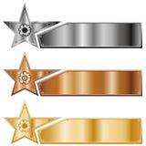 Drapeaux d'étoile Photo stock