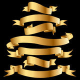 Drapeaux d'or. Images libres de droits