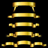 Drapeaux d'or Photo stock