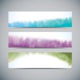Drapeaux d'aquarelle images libres de droits
