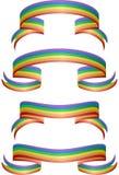 Drapeaux d'arc-en-ciel illustration de vecteur