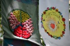 Drapeaux d'art Photos libres de droits