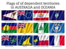 Drapeaux d'Australie et d'Océanie illustration de vecteur