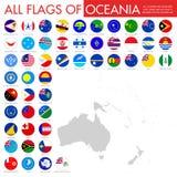 Drapeaux d'Australie et d'Oc?anie illustration stock