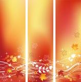 Drapeaux d'automne. Image libre de droits