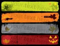 Drapeaux d'automne Image stock