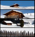 Drapeaux d'horizontal de l'hiver Photo libre de droits
