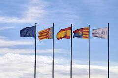 Drapeaux d'ifa de l'Europe Espagne Alicante photographie stock libre de droits