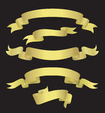 Drapeaux d'or (illustration) Photographie stock libre de droits
