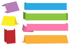 Drapeaux d'Origami illustration stock