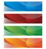 Drapeaux dans l'image tramée et le gradient Illustration Libre de Droits
