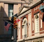 Drapeaux dans la DM de Baltimore Photos stock