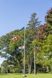 Drapeaux dans le Canada Images libres de droits