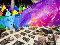 Drapeaux dans Sayulita, Mexique photo libre de droits