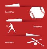 Drapeaux de base-ball Image libre de droits