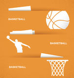 Drapeaux de basket-ball Photos libres de droits