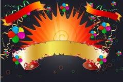 Drapeaux de célébration Photos libres de droits
