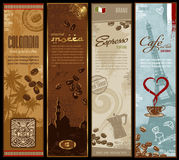 Drapeaux de café illustration stock