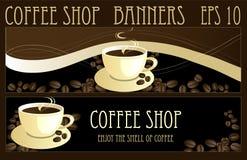 Drapeaux de café Images libres de droits