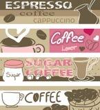Drapeaux de café Photographie stock libre de droits