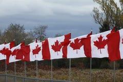 Drapeaux de Canada Image libre de droits