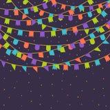 Drapeaux de carnaval Photographie stock libre de droits