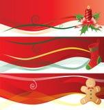 Drapeaux de Christmass Images libres de droits