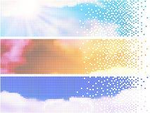 Drapeaux de ciel de Pixelate Photo stock