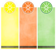 Drapeaux de citron Photo stock