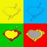 Drapeaux de coeur Images stock