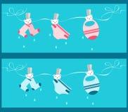 Drapeaux de corde à linge de chéri Images libres de droits