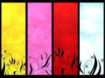 Drapeaux de couleur photos stock