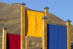 Drapeaux de couleur Image libre de droits