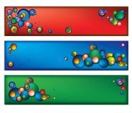 Drapeaux de couleur. Images stock