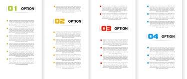 Drapeaux de couleur de papier Image stock