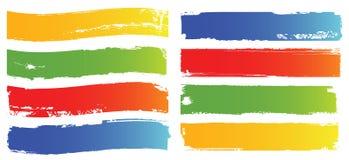 Drapeaux de couleur de vecteur réglés Image libre de droits