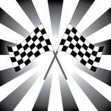 Drapeaux de course Images stock