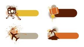 Drapeaux de course Illustration Libre de Droits