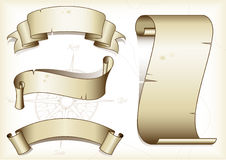 Drapeaux de cru illustration stock