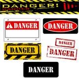 Drapeaux de danger illustration stock