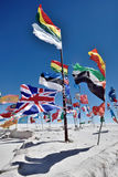 Drapeaux de diverses nations, Bolivie Photographie stock