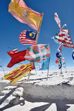 Drapeaux de diverses nations, Bolivie Photographie stock libre de droits