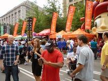 Drapeaux de festival de nourriture Photos stock